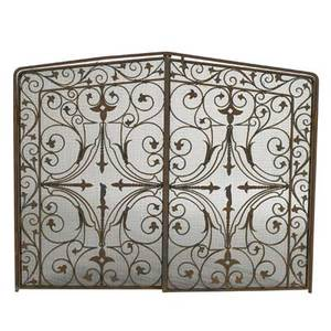 Style of samuel yellin wroughtiron hinged fire screen usa 1930s 32 x 40 12