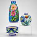 Keramis three pottery vessels belgium all marked largest 10 58