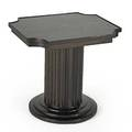 Classical fluted side table new york 1980s lacquered rosewood and mahogany illegibly stamped 18 12 x 20 x 17