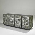 Adrian pearsall credenza usa 1970s silvered composite and laminate 26 12 x 69 x 18