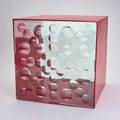 Feliciano bejar magiscope cube sculpture mexico 1993 enameled steel cut crystal signed and dated 14 38 sq