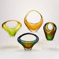 Cesare toso four glass baskets murano two labeled largest 11 x 9 12 x 3 12