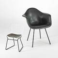 Charles eamesharry bertoia herman miller knoll two chairs usa 1950s manufacturers labels armchair 31 x 25 x 24 childs chair 20 x 13 12 x 14