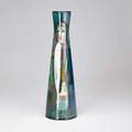 Polia pillin bottleshaped vase decorated with women and a horse usa 1960s signed 16 34 x 5 14 dia
