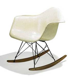 Charles and ray eames herman miller zenith plastics rar chair usa 1950s fiberglassreinforced plastic rope enameled steel birch decal label 26 34 x 24 34 x 27