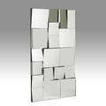 Neal small slopes mirror usa 1970s mirrored glass on wood unmarked 44 12 x 56 12