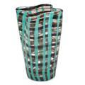 Fulvio bianconi venini scozzese glass vase murano italy 19451965 three line acidetched mark 8 x 6