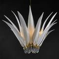 Franco luce chandelier italy 1970s gold plated brass cased glass unmarked to ceiling cap 46 x 45