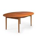 Finn juhl niels vodder teak dining table denmark 1950s unmarked open 28 12 x 121 12 x 54 34 closed 78 two leaves 21 34