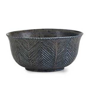Axel salto royal copenhagen glazed stoneware bowl herringbone pattern denmark 1960s incised salto 3 x 6 14