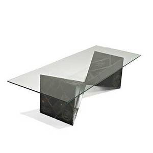 Paul evans directional sculptural coffee table usa 1969 welded and painted steel bronze glass signed pe 69 15 34 x 60 x 24