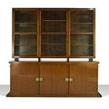Tommi parzinger parzinger originals cabinet new york 1950s walnut brass branded overall 84 12 x 90 x 18 14 lower cabinet 33 12 tall