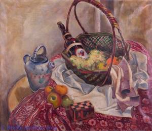 Lena Gurr Oil on Canvas Still Life