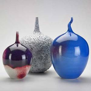 Cliff lee b 1951 three porcelain vessels stevens pa 19972001 signed and dated tallest 11 12