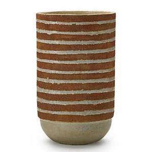 Laura andreson 19021999 tall earthenware vase in crackled glaze los angeles ca signed 10 14 x 6