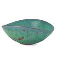 Otto and gertrud natzler fine and large vessel with mottled green and blue glaze los angeles ca signed natzler 2514 4 14 x 10 12