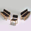 Alvar aalto artek ten stacking side chairs finland1997 birch webbing all ink stamped each 31 12 x 19 x 20