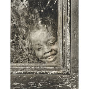 Walter rosenblum american b 1919 gelatin silver print smiling child in window 1938 from the pitt street series framed signed dated and titled 13 34 x 10 78 sheet