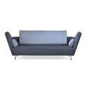 Finn juhl one collection 57 57 sofa denmark 2000s matte chromed steel teak suede saddle leather unmarked 34 x 94 x 35