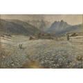 John a macwhirter scottish 18391911 handcolored engraving tyrolean spring framed signed in plate 16 14 x 24 12
