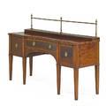 George iii sideboard mahogany with banded inlay brass gallery three drawers england ca 1800 51 x 74 12 x 22