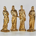 Biblical four brass figures depicting the four evangelists continental 20th c unmarked tallest 15 x 5 sq