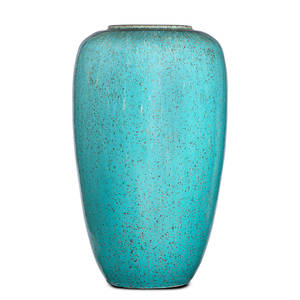Galloway large stoneware vase speckled turquoise crystalline glaze philadelphia pa 1920s circular galloway stamp800 16 12 x 9 12