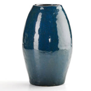 O l bachelder 1852  1935 omar khayyam ovoid vase in blue glaze luther nc stamped olb 11 x 6 dia provenance private collection connecticut acquired from the collection of allen hender