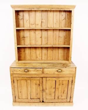 English Pine Cupboard 19th C