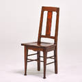 English arts  crafts side chair ca 1910 mahogany and hardwood inlay unmarked 38 x 17 x 17 12