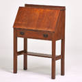 Gustav stickley dropfront desk eastwood ny ca 1910 quartersawn oak red compass mark 43 14 x 30 x 13 34