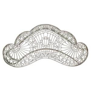 Tiffany  co belle epoque diamond hair ornament delicate diamond and platinum lace openwork in the form of a tiara marked tiffany  co on hinged double hairpin back 3 78 x 2 181 dwt