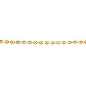 Italian 14k gold ships link chain hollow links joined by lobster claw marked 14k italy 30 532 dwt