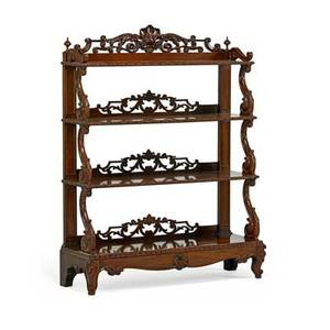 Victorian etagere rosewood with hand carved designs midlate 19th c 49 x 39 x 13