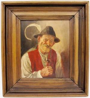 Oil Painting of Tyrolean Man Signed  Dated