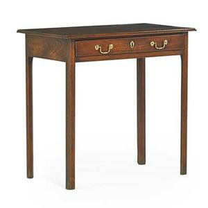 George ii work table mahogany with one drawer late 18th c 28 12 x 30 x 17