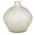 Lalique glass vase plumes in frosted glass early 20th c script signature r lalique france 8 x 8 12
