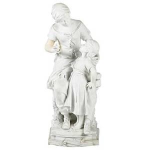 Auguste moreau french 18341917 la grande taeur moreau parian figural sculpture signed and titled 22 12 x 8 14 x 9 14