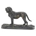 Pierrejules mene french 18101879 silvered bronze figure of a hound 1844 signed 4 34 x 7 provenance estate of a private collector new york