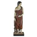 Classical polychrome sculpture gesso standing female figure with wooden platform continental 19th c 59 x 18 x 16