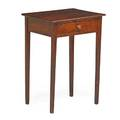 American hepplewhite one drawer stand pine with one drawer above square tapered legs ca 1790 18 x 20 x 15