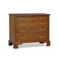 New england chippendale chest of drawers cherry with four graduated drawers on straight bracket feet 18th c 34 x 19 12 x 40