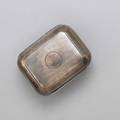 Asprey sterling soap box cushion shaped with engine turning gilt interior london 1913 3 58 x 2 34 x 1 58 429 ot