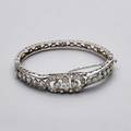 14k white gold diamond hinged bracelet circular and marquise cut diamonds approx 150 cts tw ca 19301960 121 dwt