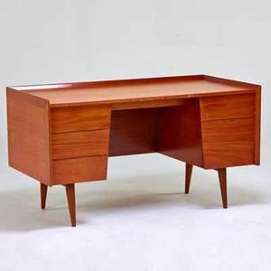 Jens risom jens risom design needle desk usa 1960s teak risom design label 30 x 54 x 57