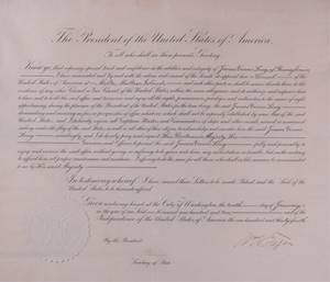 William H Taft Signed Presidential Appointment