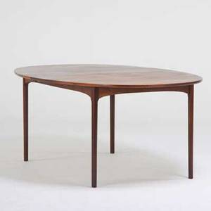 Scandinavian teak extension dining table with two leaves ca 1960s unmarked closed 29 x 72 12 x 48 dia two 20 leaves
