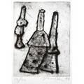 Peter voulkos american 19242002 three untitled etchings 1998 all framed all signed dated and numbered from an edition of 20 largest17 34 x 13 12