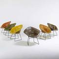 Harry bertoia knoll international six diamond chairs new york 1960s enameled steel upholstery several with manufacturers label 31 x 34 x 28