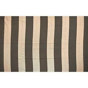 Beauvais carpet roomsized rug with wide stripes in shades of chocolate and taupe new york ny ca 1990s unmarked 165 x 129